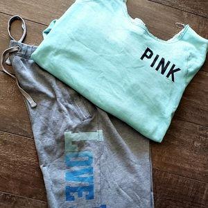 PINK Sweat pants & shirt